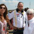 Bernie Ecclestone et sa girlfriend Fabiana Flosi en août 2010.
