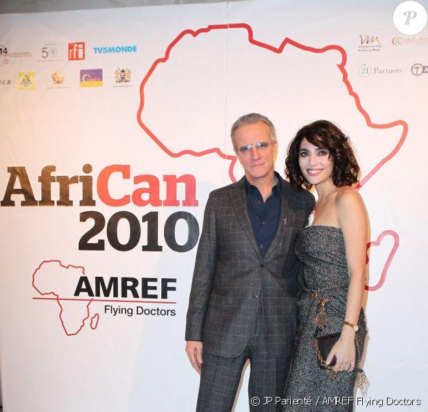 Christophe Lambert et Caterina Murino lors du gala AfriCAN à Paris le 19 novembre 2010