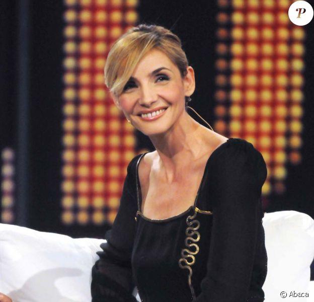 Clotilde Courau sur le plateau de Chiambretti Night, Milan, 7 octobre 2010