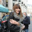 Carla Bruni à la sortie de la radio RTL il y a quelques jours