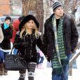 Jessica Simpson et son fiancé Eric Johnson en vacances à Aspen, le 31 décembre 2010.
