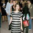 Enceinte Sofia Coppola porte la robe trapèze à rayures à merveille à New York, le 12 septembre 2006.
