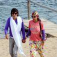 Ronnie Wood et sa compagne Ana Araujo en vacances en Uruguay, le 3 janvier 2011