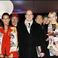 Stéphanie, Albert de Monaco et Charlene Wittstock à l'ouverture du Festival International du cirque de Monte-Carlo en 2008