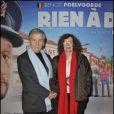 Le réalisateur Costa-Gavras lors de l'avant-première de Rien à déclarer au cinéma Pathé d'Ivry-sur-Seine le 24 janvier 2011