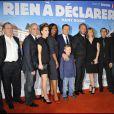 L'équipe du film Rien à déclarer lors de l'avant-première de Rien à déclarer au cinéma Pathé d'Ivry-sur-Seine le 24 janvier 2011