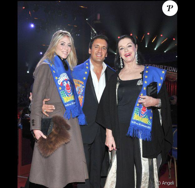 Nathalie, Dany Brillant et Anny Duperey au 35e festival international du cirque de Monte-Carlo, le 25 janvier 2011.
