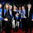 Frédéric Diefenthal, Gwendoline Hamon, Martin Lamotte, Anny Duperey, Dany Brillant, François Berléand et Claude Brasseur au 35e festival international du cirque de Monte-Carlo, le 25 janvier 2011.