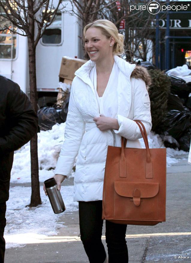 Katherine Heigl sur le tournage du film New Year's Eve à New York le 2 février 2011