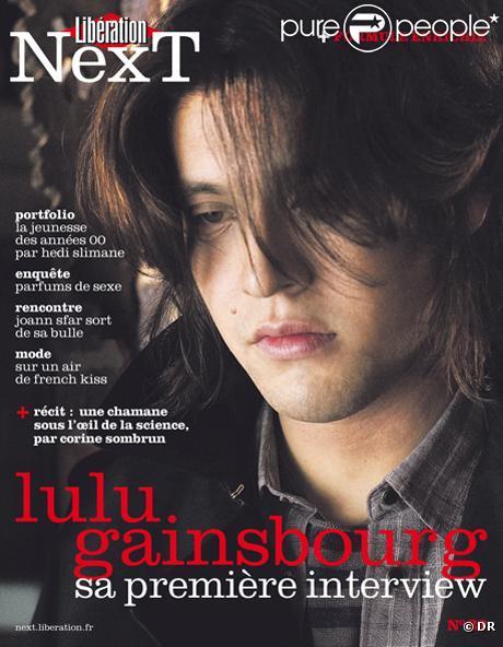 Lulu Gainsbourg en couverture de Next, supplément de Libération du 5 février 2011