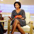 Michelle Obama sur le plateau de NBC avec sa robe H&M