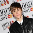 Justin Bieber à la cérémonie des Brit Awards, le 15 février 2011.