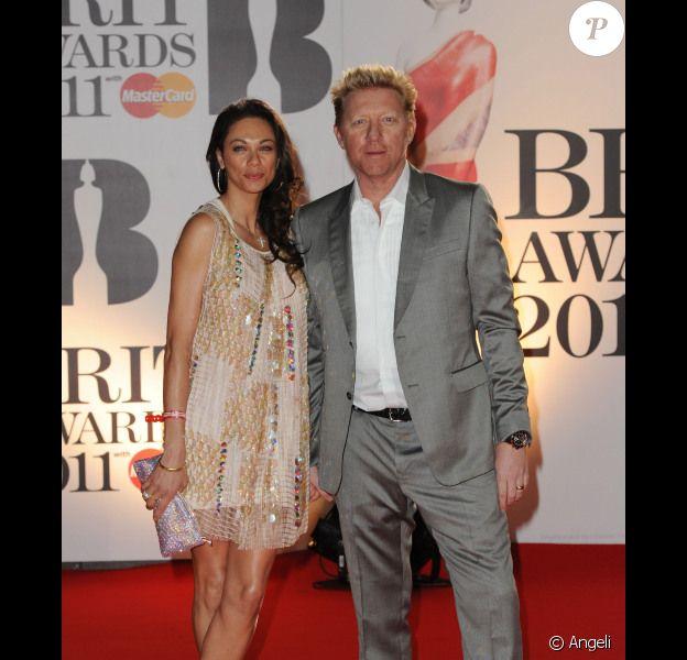 Boris Becker et son épouse à la cérémonie des Brit Awards 2011.