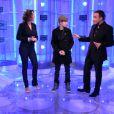 Justin Bieber sur le plateau de 50 min inside, avec Nikos et Sandrine Quétier, émission diffusée le 19 février 2011 sur TF1