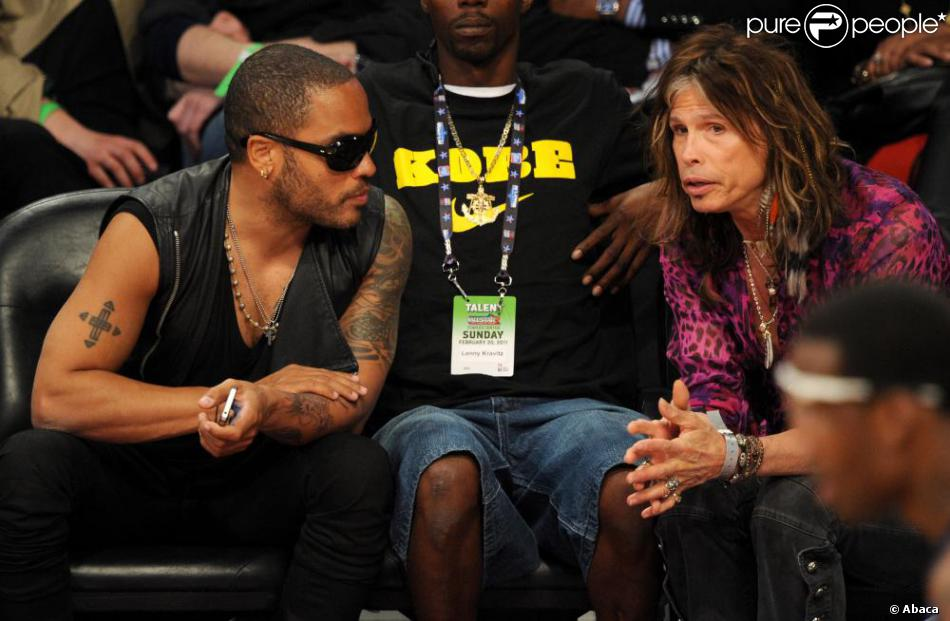 46166155ef20e Lenny Kravitz et Steven Tyler à la soirée NBA All-Star Game