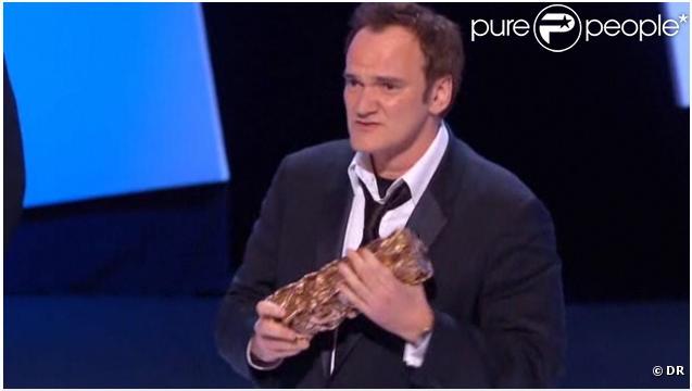 Quentin Tarantino recevait, vendredi 25 février, un César d'honneur pour l'ensemble de son oeuvre, lors de la 36e Nuit des César sur Canal+.