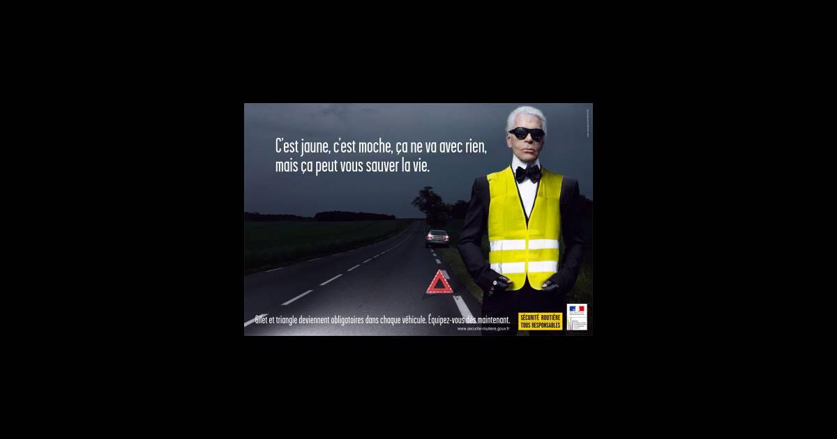 Ont Un Bel Lagerfeld Son À Ne Karl Inspiré Gilet Et Événement Jaune my0nON8wv