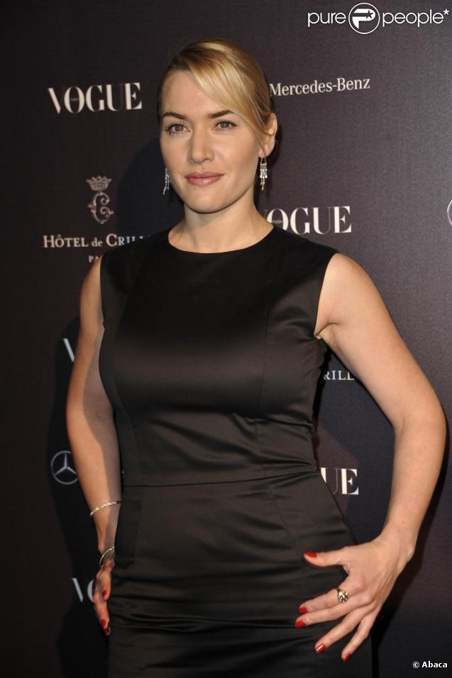 Kate Winslet à l'hôtel Crillon à Paris pour l'ouverture du bar Vogue qui sera ouvert du 3 au 5 mars pendant la Fashion Week parisienne