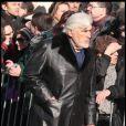 Mario Adorf lors des obsèques d'Annie Girardot à Paris le 4 mars 2011