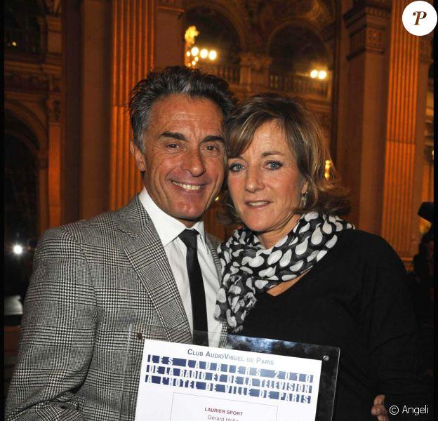 Cérémonie des Lauriers de la radio et de la Télévision : Gérard Holtz et sa compagne