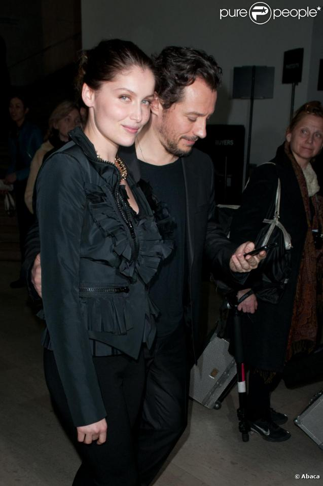 Laetitia Casta et Stefano Accorsi à la soirée Givenchy à Paris le 6 mars 2011