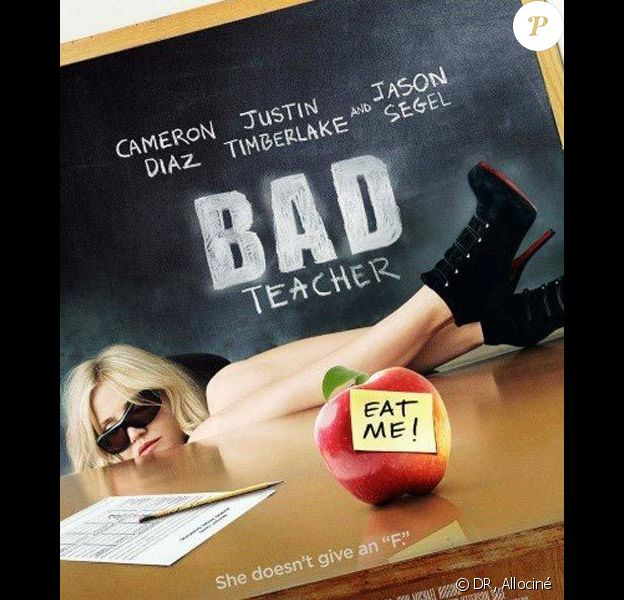 L'affiche du film Bad Teacher avec Cameron Diaz, à croquer !