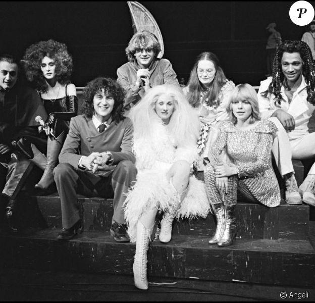 Daniel Balavoine, Fabienne Thibeault, France Gall... dans Starmania, à Paris, le 4 avril 1979