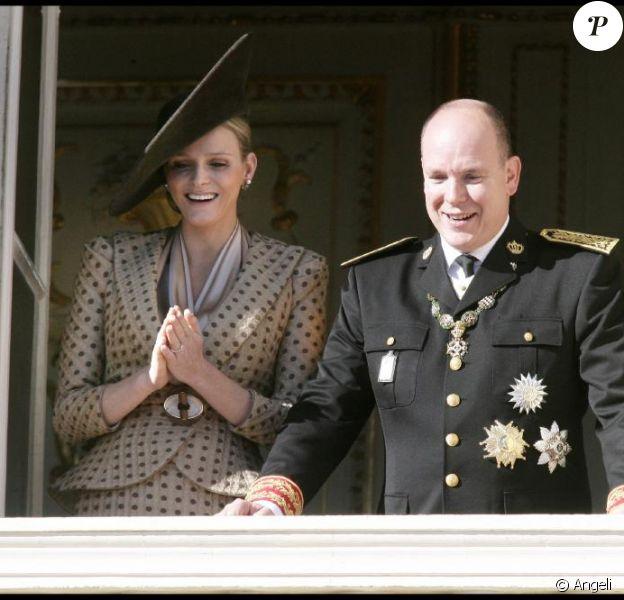 Albert de Monaco et Charlene Wittstock le jour le la Fête nationale monégasque, le 19 novembre 2010.