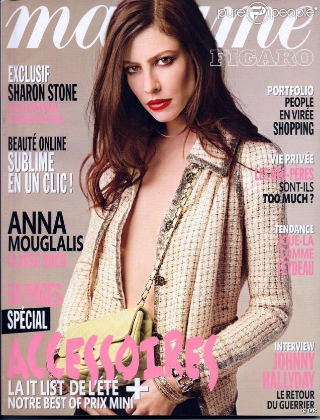 Anna Mouglalis en couverture de Madame Figaro du 19 mars 2011