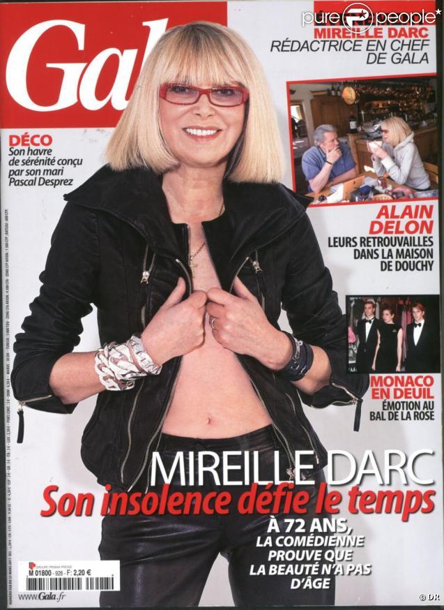 Mireille Darc en couverture de Gala