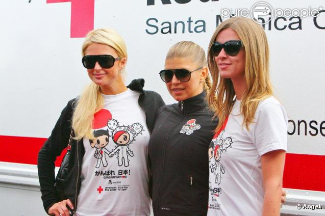 Paris Hilton, Fergie  et Nicky Hilton participent à la Course pour le Japon, à Santa Monica, le 27 mars 2011