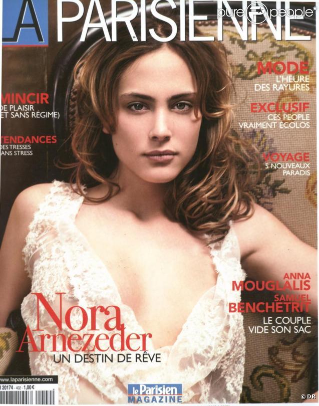 Nora Arnezeder en Une de La Parisienne