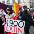 Des prostituées manifestent dans les rues de Lyon le 19 mars 2011 à propos de leurs conditions de travail.