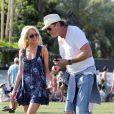 David Hasselhoff et Hayley, sa nouvelle compagne, au festival de Coachella, en Californie, le samedi 16 avril 2011.