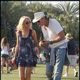David Hasselhoff et sa nouvelle girlfriend Hayley au festival de Coachella, en Californie, le samedi 16 avril.
