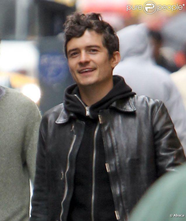Orlando Bloom, plus heureux et épanoui que jamais dans les rues de New York, le 19 avril 2011.
