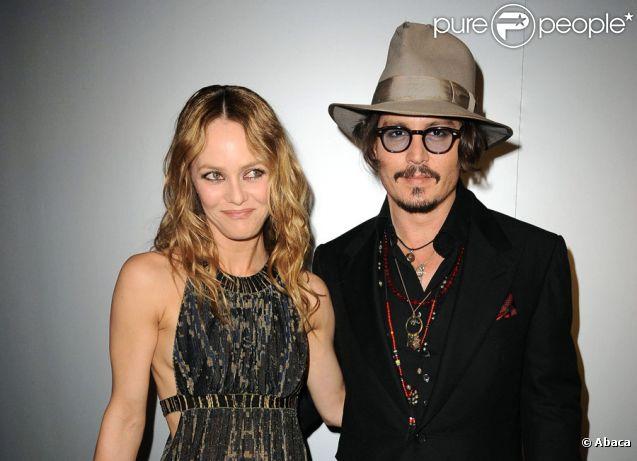 Johnny Depp et Vanessa Paradis en mai 2010 à Cannes