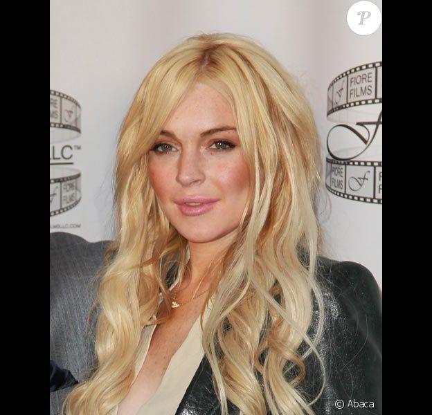 Lindsay Lohan pose lors de la conférence de presse du film Three Generations le 12 avril 2011 à New-York