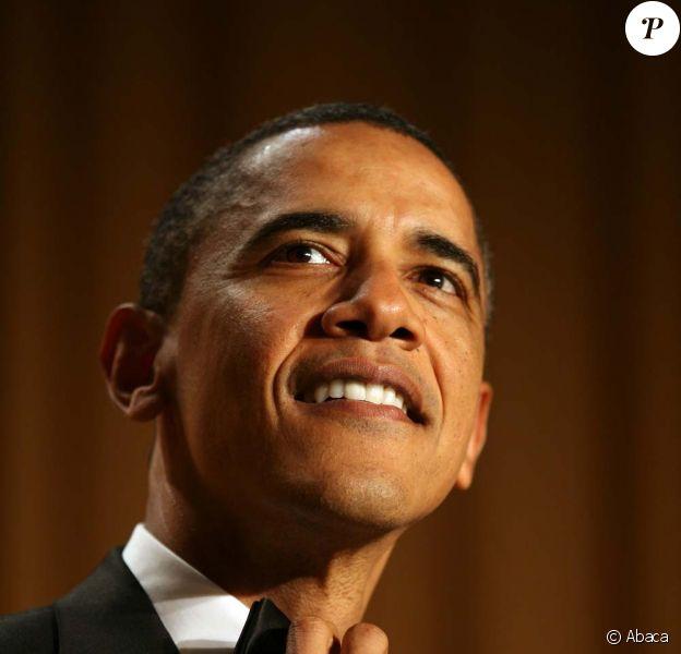 Barack Obama, lors du dîner des correspondants de la Maison Blanche, à Washington, le 30 avril 2011.