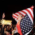 Réaction de joie à la mort de Ben Laden devant la Maison Blanche, à Washington, le 1er mai 2011.