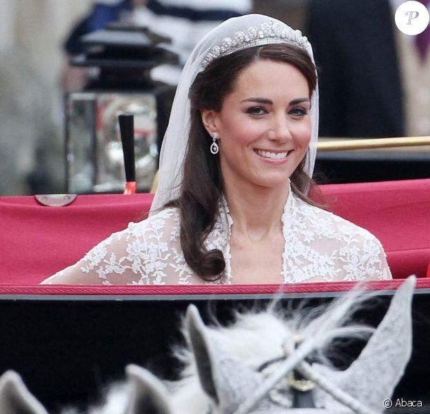 La belle Kate Middleton lors de son mariage avec le Prince William, à Londres, le 29 avril 2011.