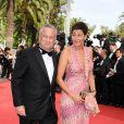 Jean-Marie Messier et son épouse lors de la première projection du 64e Festival de Cannes, le mercredi 11 mai 2011.