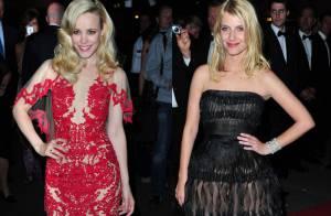 Cannes 2011 : Rachel McAdams et Mélanie Laurent... Le rouge et le noir glamour !