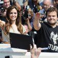 La superbe Angelina Jolie et Jack Black à l'occasion du photocall de  Kung Fu Panda 2 , dans le cadre du 64e Festival de Cannes, le 12 mai 2011.