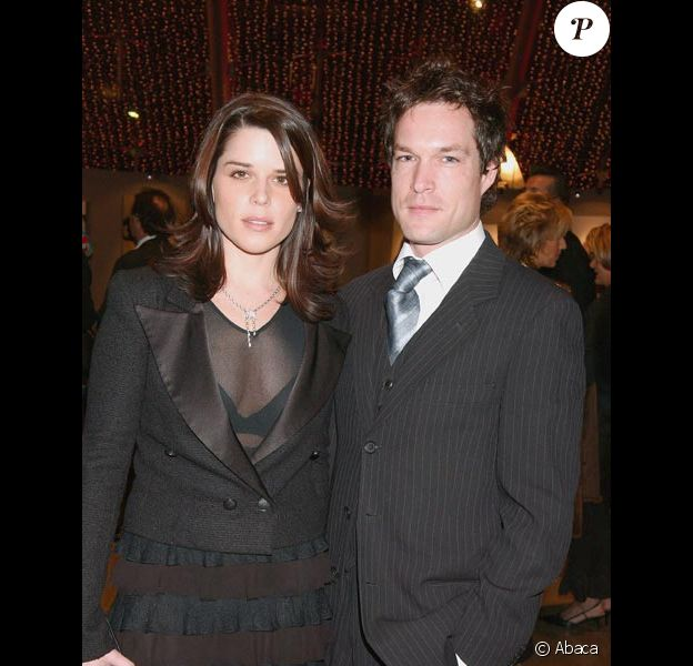 Neve Campbell et son mari John Light en décembre 2004 à Monaco