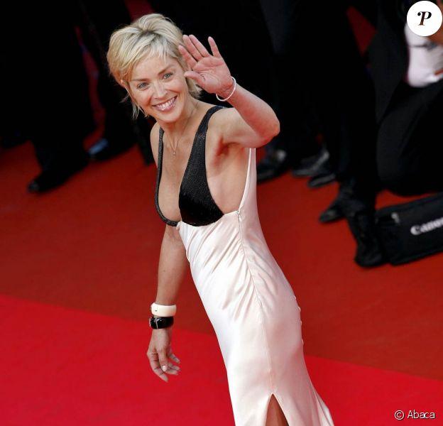 Sharon Stone lors du Festival de Cannes, en 2007.