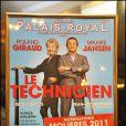 250e représentation de la pièce Le Technicien, au théâtre du Palais-Royal, à Paris, le 18 mai 2011.