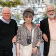 Malcolm McDowell, Christiane Kubrick et Jan Harlan lors du 64e Festival de Cannes, le 20 mai 2011.