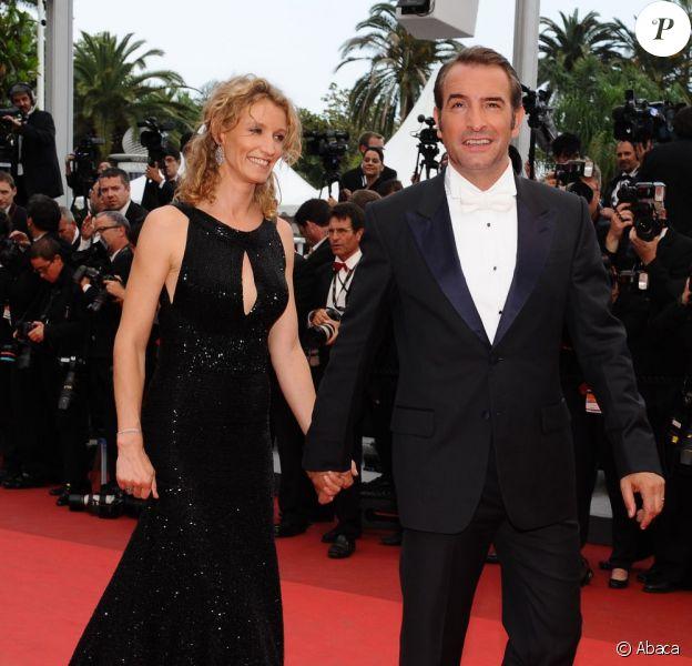 Jean Dujardin et Alexandra Lamy sur le tapis rouge de Cannes le 22 mai 2011