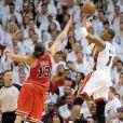 Joakim Noah et les Bulls se sont inclinés à domicile, le 22 mai 2011, face au Miami Heat dans le match 3 de leur finale de Conférence Ouest. Un match au cours duquel Noah s'en est pris à un supporteur, avec une insulte qui pourrait lui coûter cher.